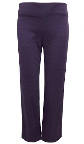 5-0353 Elastīgas brīvā laika kokvilnas bikses violetā krāsā