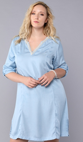 3-0806 Gaiši zila džinsa kleita.