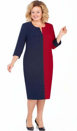 LIA4020 Zila/sarkana kleita