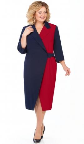 LIA4021 Zila/sarkana kleita