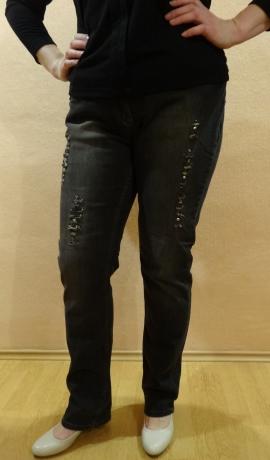 5-0314 Tumši pelēkas džinsas