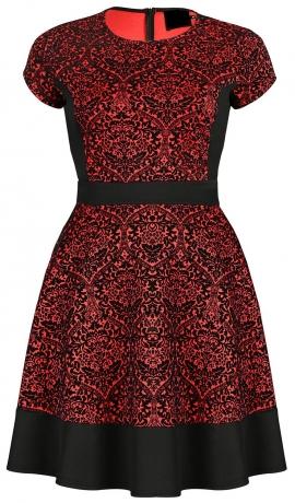 3-0442 Sarkana & melna kleita