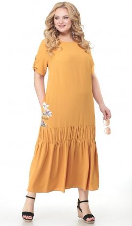 3-1627 Gara sinepju krāsa kleita