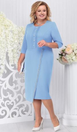 LIA4143 Gaiši zila kleita