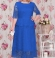 3-0874 Zila garā kleita