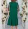 LIA5375 Smaragdzaļa kleita ar mežģīņu augšdaļu
