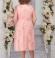 LIA5371 Pūderkrāsas mežģīņu kleita