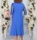 LIA5378 Zila kleita ar mežģīņu augšdaļu