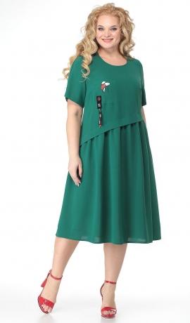 LIA7214 Zaļa kleita