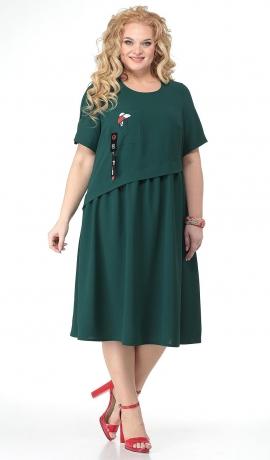 LIA7212 Tumši zaļa kleita