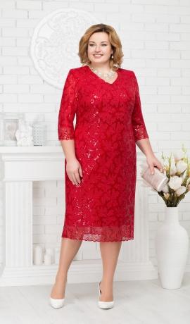 LIA2138 Grezna sarkana kleita