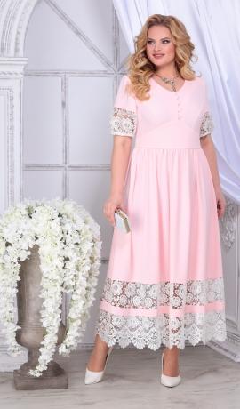 LIA7404 Rozā maxi kleita