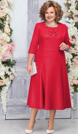 3-1816 Sarkana kleita ar spīdumu