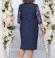 LIA4587 Tumši zila kleita ar mežģīni