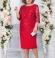 LIA4584 Sarkana kleita ar mežģīni