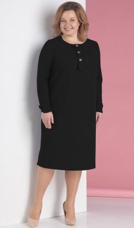 LIA2119 Melna eleganta kleita