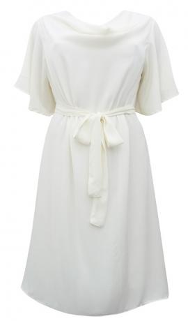 3-0755 Gaiša kleita ar jostiņu
