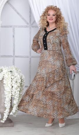 LIA7249 Leopardraksta gara kleita
