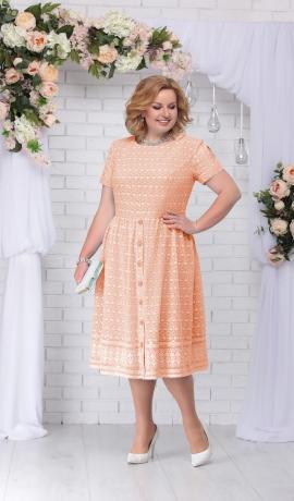 LIA2965 Persiku krāsas kleita