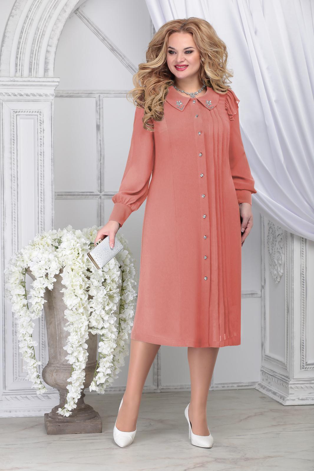 LIA7141 Persiku krāsas kreklkleita