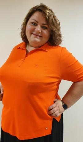 1-1171 Oranžs kokvilnas polo krekls