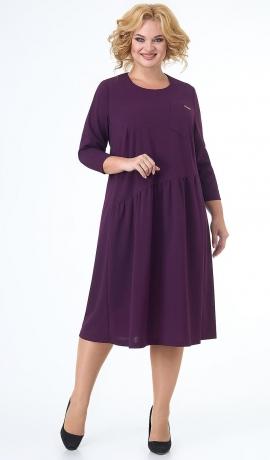 LIA7453 Asimetriska griezuma violeta kleita