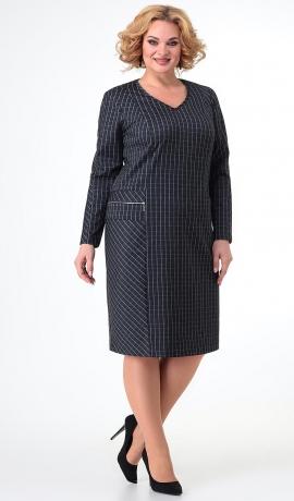 LIA7451 Rūtiņu raksta trikotāžas kleita