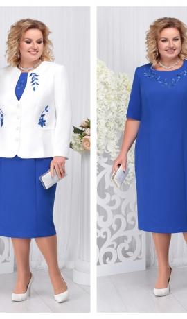 LIA3689 Zila kleita ar žaketi