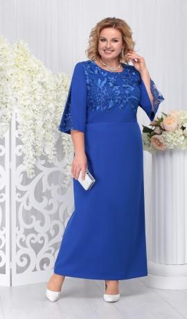 LIA3684 Zila garā kleita