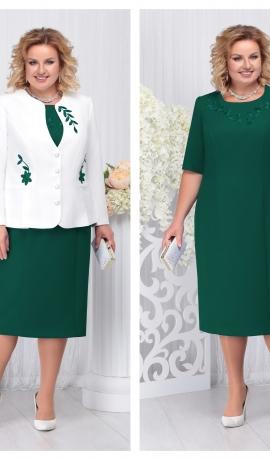 LIA3692 Zaļa kleita ar žaketi