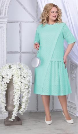 3-1825 Gaiši zaļa kokvilnas kleita