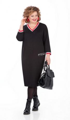 LIA5109 Melna trikotāžas kleita