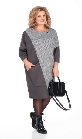 LIA5123 Brīva piegriezuma trikotāžas kleita