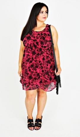 3-0513 Rozā un melna kleita