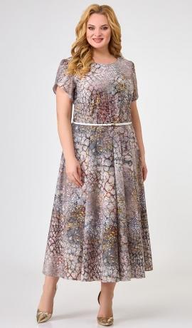 LIA7485 Raiba raksta kleita ar jostiņu
