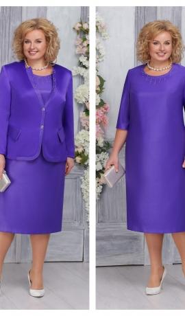 LIA4397 Violeta kleita ar žaketi