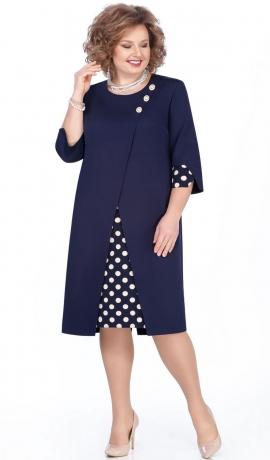 LIA5507 Tumši zila kleita