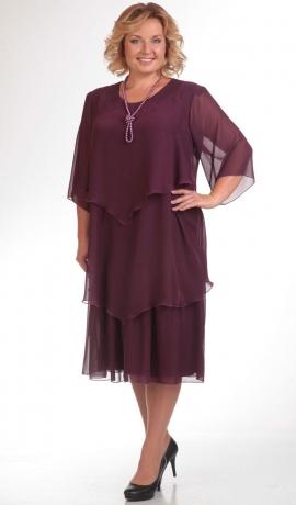 LIA1557 Violeta šifona kleita ar krellēm