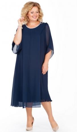 LIA3750 Trikotāžas kleita ar šifona virskārtu