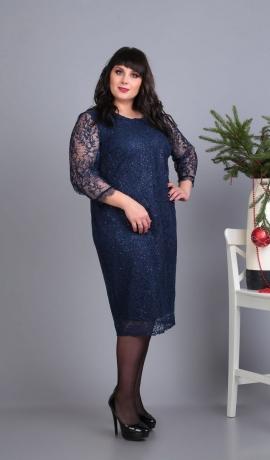 LIA4342 Eleganta mežģīņu kleita ar spīdumu