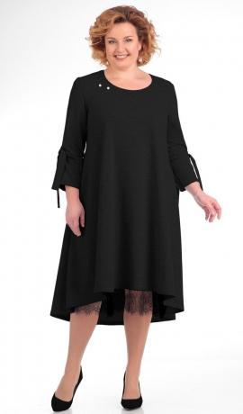 LIA4840 Melna kleita ar mežģīnu apakšiņu