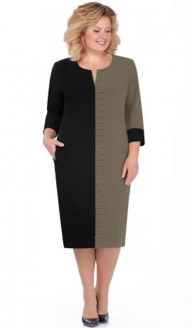 LIA4830 Melna/haki kleita