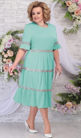 LIA5629 Gaiši zaļa kleita