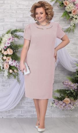 LIA5626 Rozīgi pelēka kleita ar rāvējslēdzēju sānos