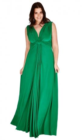 3-0529 Zaļa maksī kleita