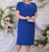 LIA5627 Zila kleita ar rāvējslēdzēju sānos