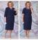LIA6134 Tumši zila kleita ar žaketi