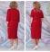 LIA6133 Sarkana kleita ar žaketi