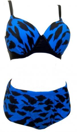 9-0521 Melns & zils peldkostīms