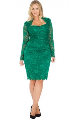3-0352 Smaragda krāsas kleita